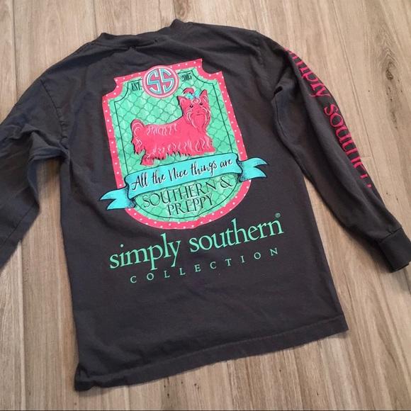 88afbc9a4 {Simply Southern} Long Sleeve Dog Shirt. M_5bc565d59539f75117a950b3